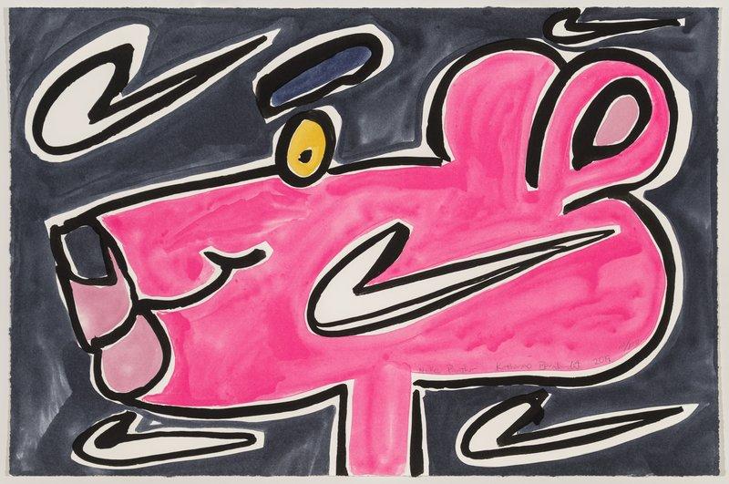 Nike Panther by Katherine Bernhardt