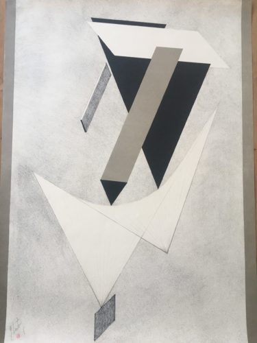 Plate 3, From 1. Kestnermappe Proun by El Lissitzky at El Lissitzky