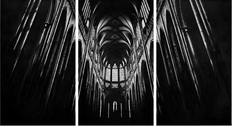Untitled (cathedral) by Robert Longo