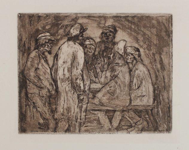 Tischgesellschaft by Emil Nolde