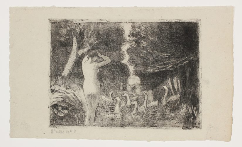 Baigneuse Aux Oies by Camille Pissarro