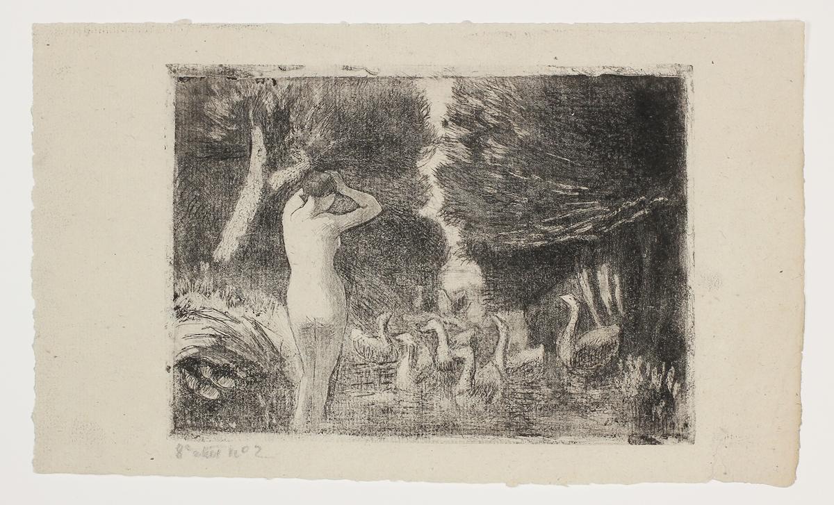 Baigneuse Aux Oies by Camille Pissarro