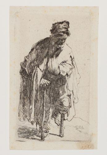 Beggar With A Wooden Leg by Harmensz van Rijn Rembrandt