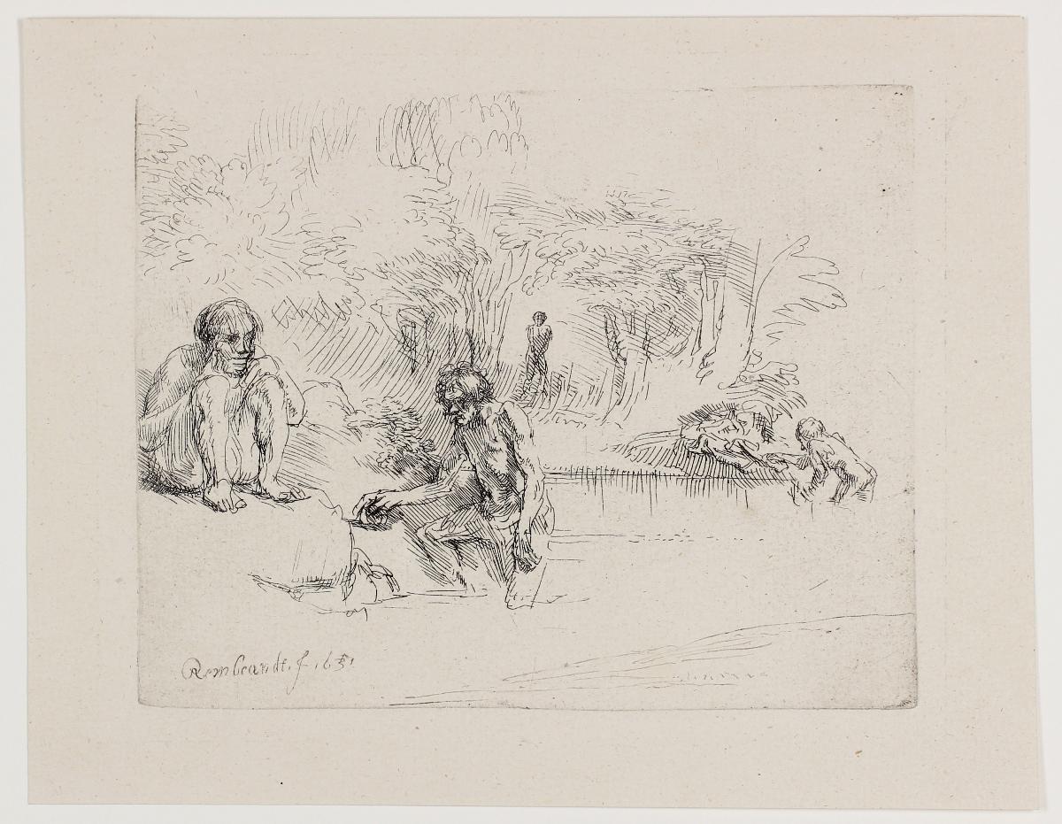 De Zwemmertjes (the Bathers) by Harmensz van Rijn Rembrandt