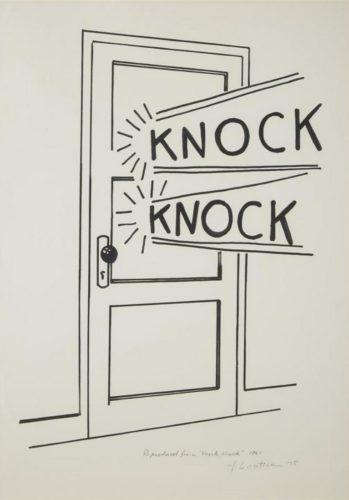 Knock Knock by Roy Lichtenstein
