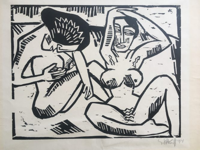 Mussige Hetaren (idle Courtesans) by Karl Schmidt-Rottluff at