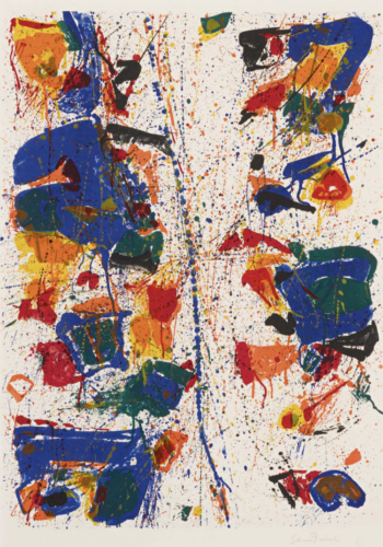 The White Line by Sam Francis