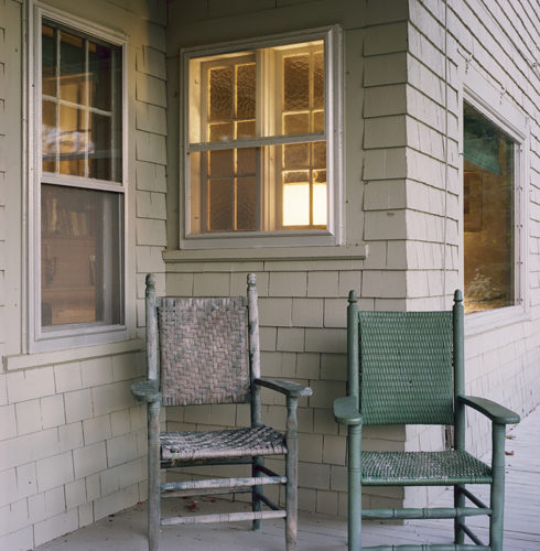 Porch Chairs Side By Side by Shellburne Thurber at