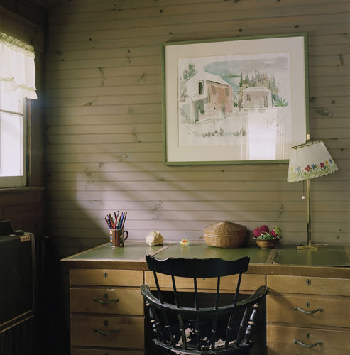 Writing Desk In Parents' Room by Shellburne Thurber at