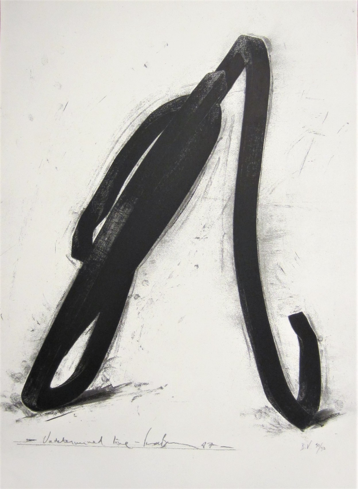 Undetermined Line by Bernar Venet