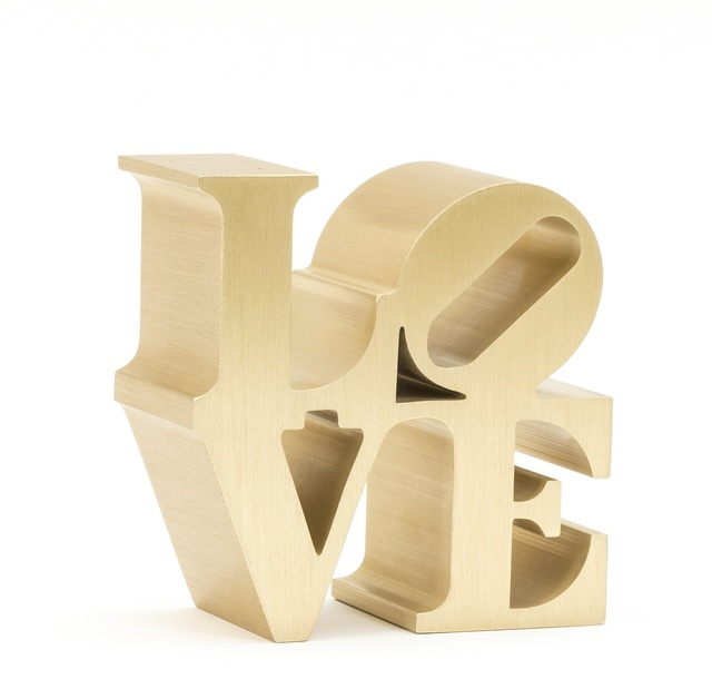 Love (gold) by Robert Indiana