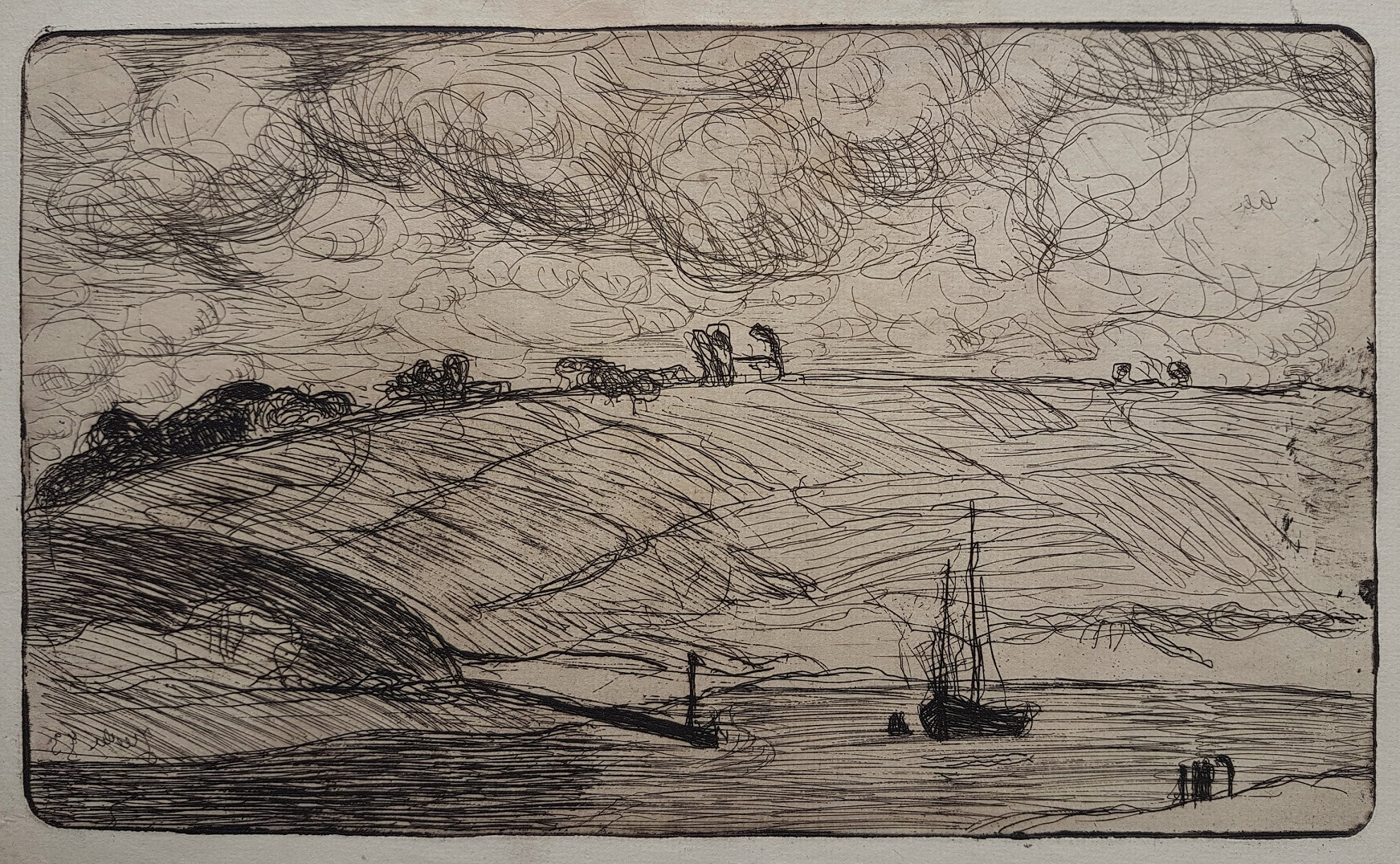 L'entrée De La Rivière [the Mooring] by Armand Seguin