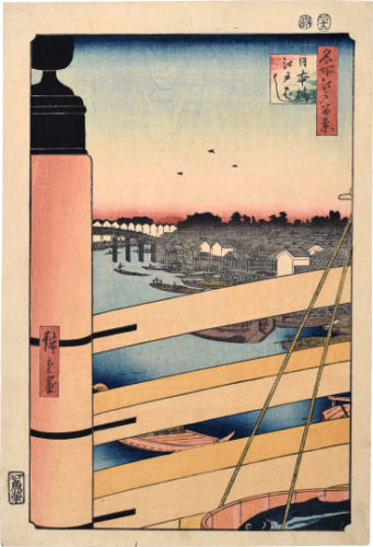 One Hundred Famous Views Of Edo: Nihonbashi And Edobashi Bridges by Utagawa Hiroshige