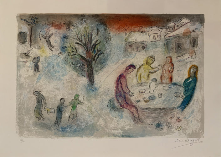 Daphnis Et Chloe: The Meal At Dryas' House by Marc Chagall at