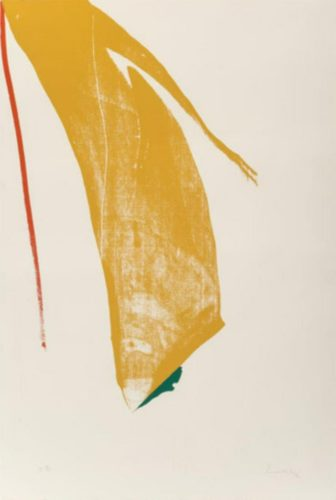 """Untitled From """"what Red Lines Can Do"""" by Helen Frankenthaler"""