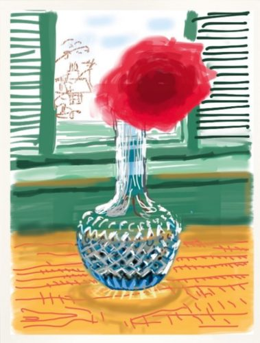 IPAD Drawing – My Window. No. 281 | Do remember they can't cancel the spring by David Hockney