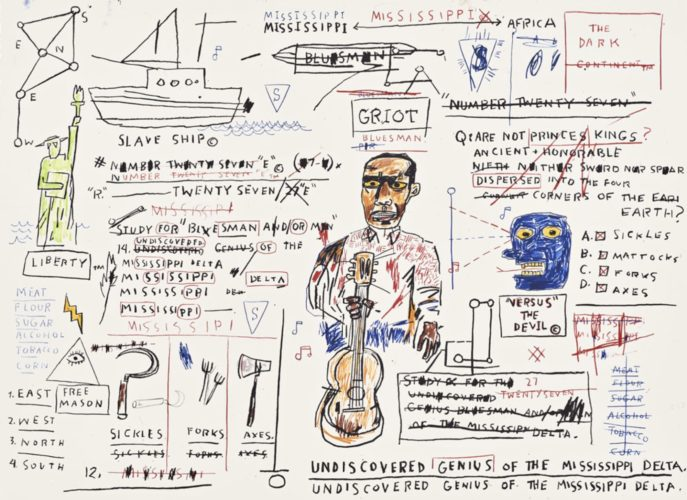 Undiscovered Genius by Jean-Michel Basquiat at