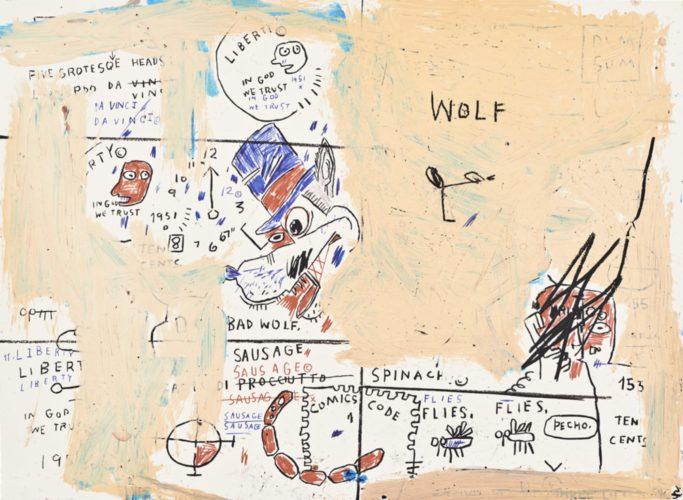 Wolf Sausage by Jean-Michel Basquiat at