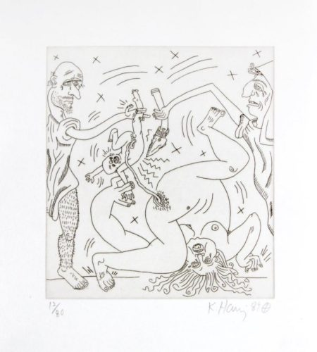 """Untitled From """"the Valley"""" by Keith Haring at Kunzt"""