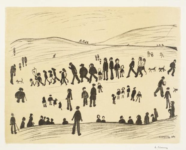 L S Lowry – Sunday Afternoon by L S Lowry