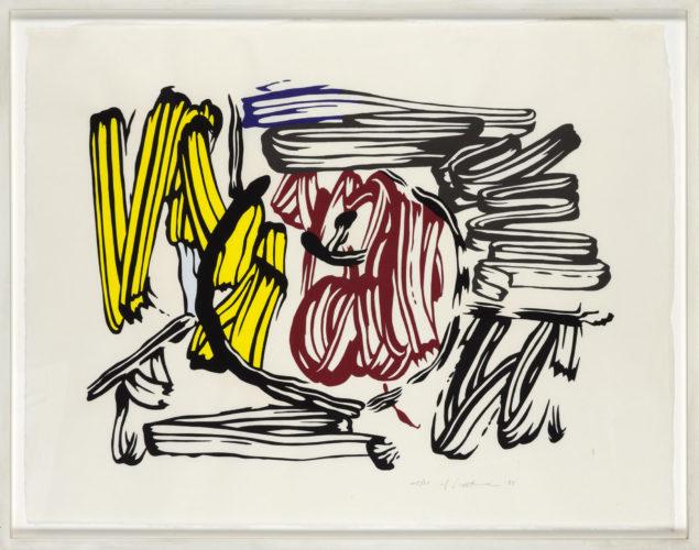 Red & Yellow Apple 1983 by Roy Lichtenstein at Roy Lichtenstein