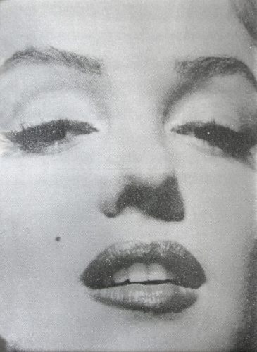 Marilyn Close Up (atomic Silver And Black) by Russell Young