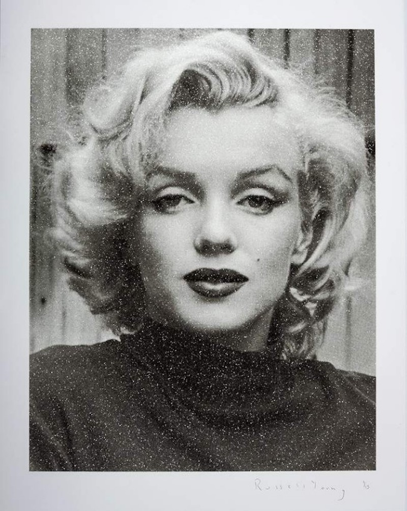 Marilyn Hollywood – Superstar Black And White by Russell Young