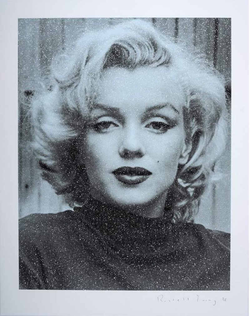 Marilyn Hollywood – Superstar Blue by Russell Young