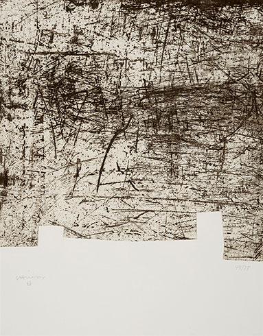 """""""yves Bonnefoy: Une Hélène De Vent Ou De Fumé Iii"""" by Eduardo Chillida at Eduardo Chillida"""