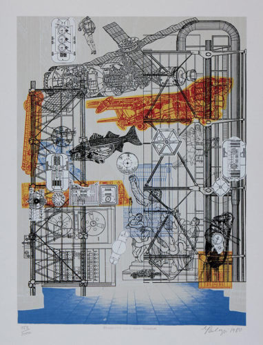 Blueprints For A New Museum by Eduardo Paolozzi