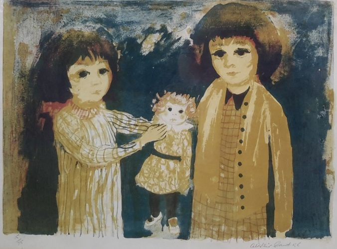 Two Girls and a Doll by Alistair Grant