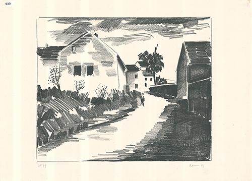 La route de Nesles by Maurice de Vlaminck