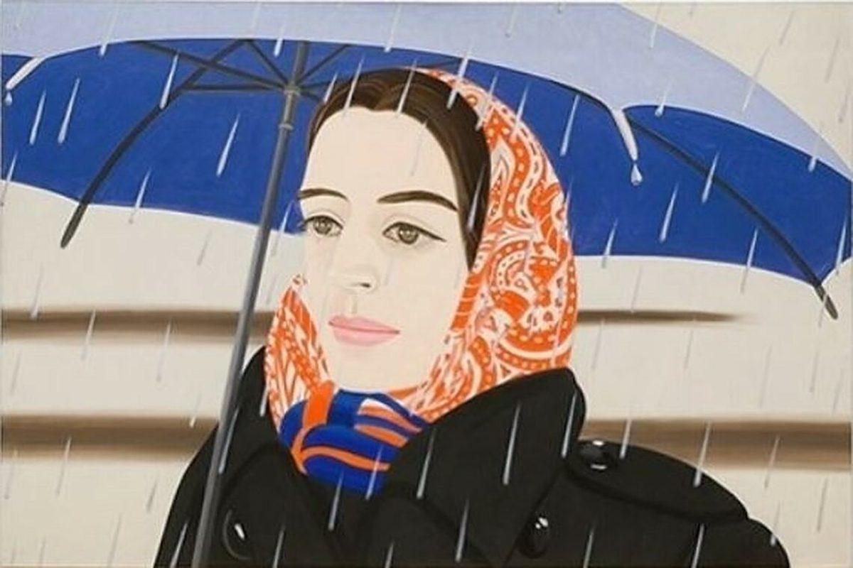 Blue Umbrella II by Alex Katz