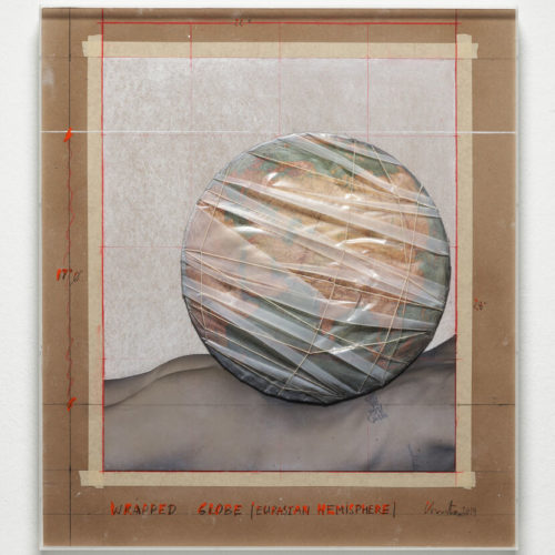 Wrapped Globe (Eurasian Hemisphere) by Christo and Jeanne-Claude