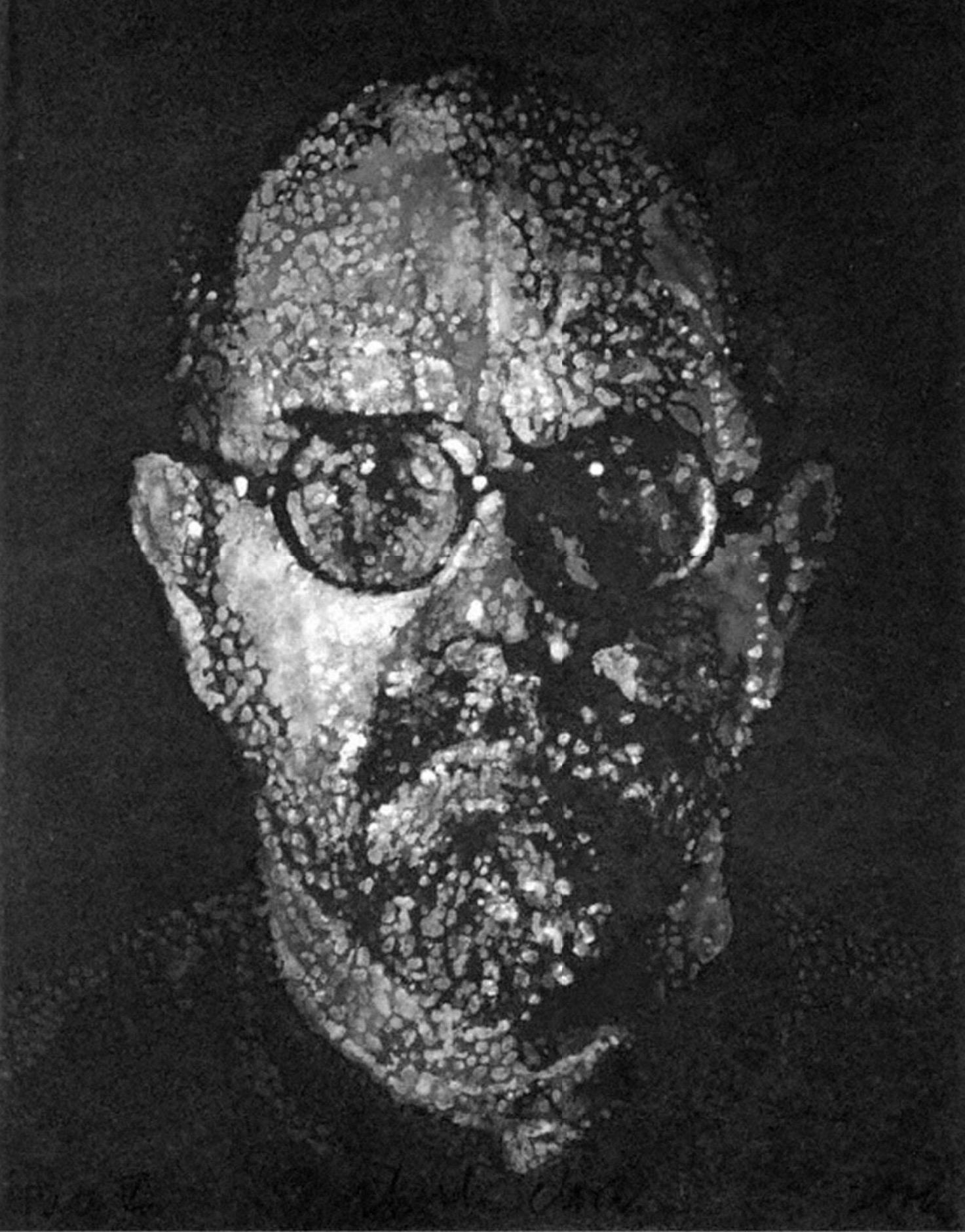 Self Portrait / Pulp / Pochoir by Chuck Close