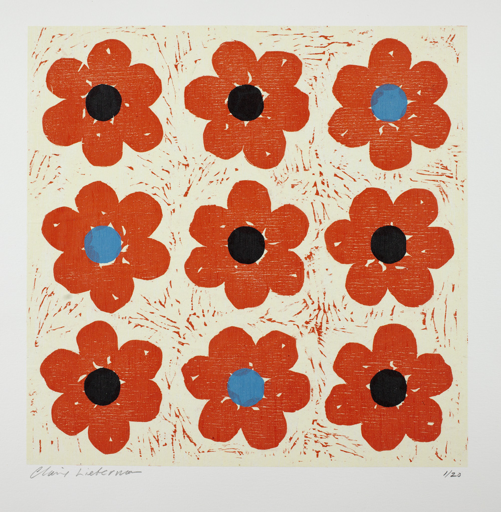 Poppies Tic Tac Toe by Claire Lieberman