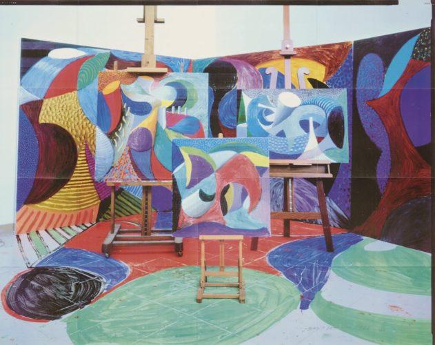 Painted environment II by David Hockney
