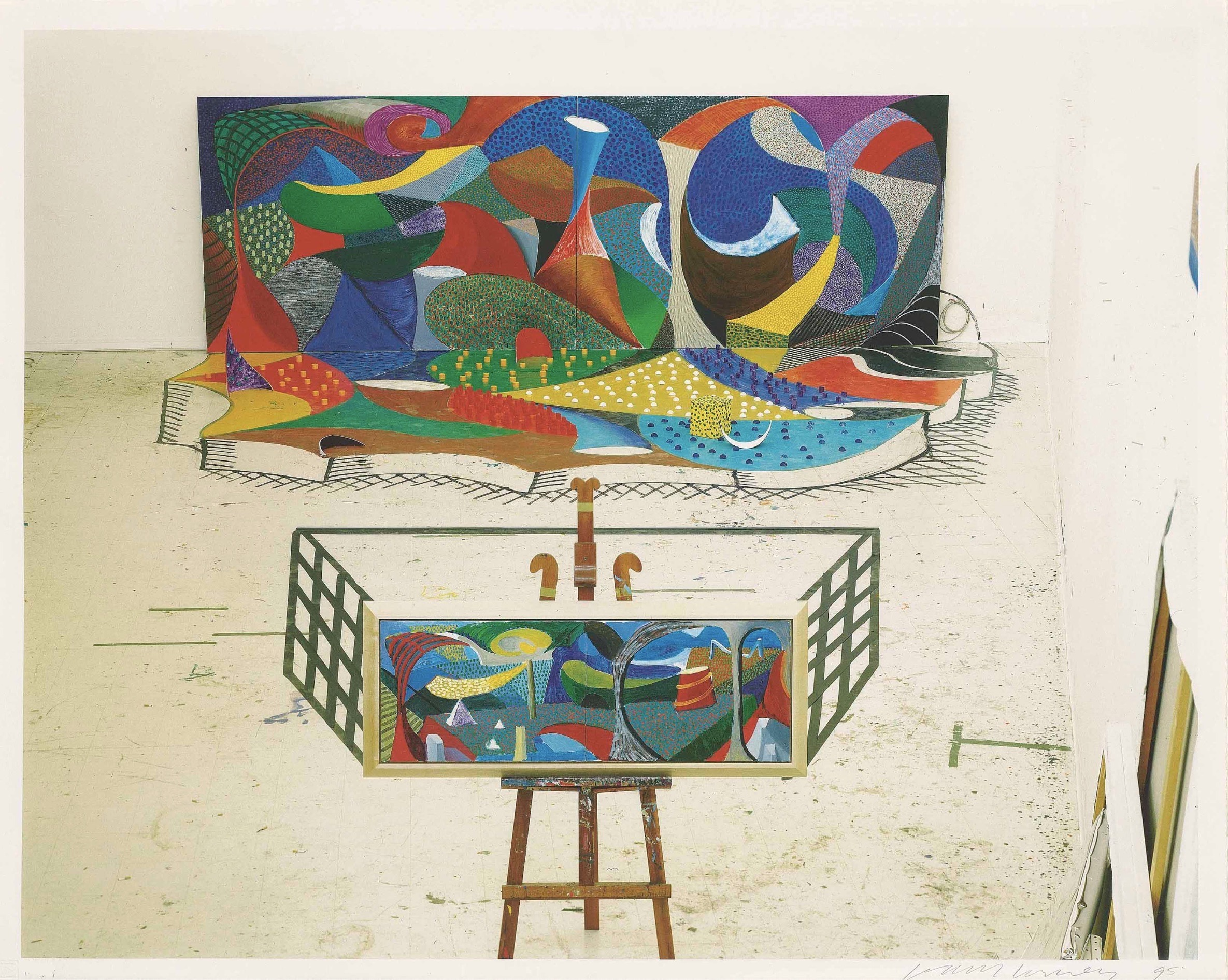 The studio, March 28th by David Hockney