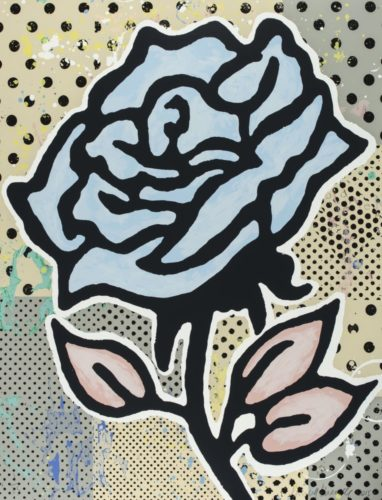 The blue rose by Donald Baechler at