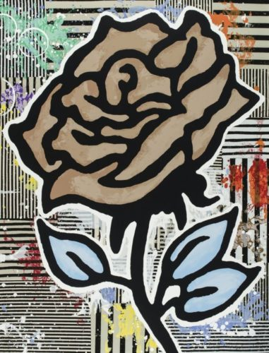 The brown rose by Donald Baechler