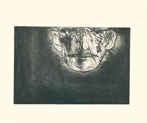 Edvard Munch by Leonard Baskin at