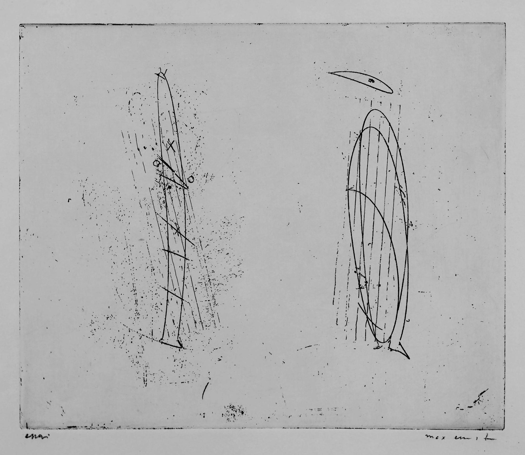 Untitled from Le Poeme de la femme 100 tetes by Max Ernst