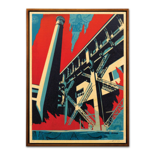Shepard Fairey, Fossil Factory by Faile at MLTPL