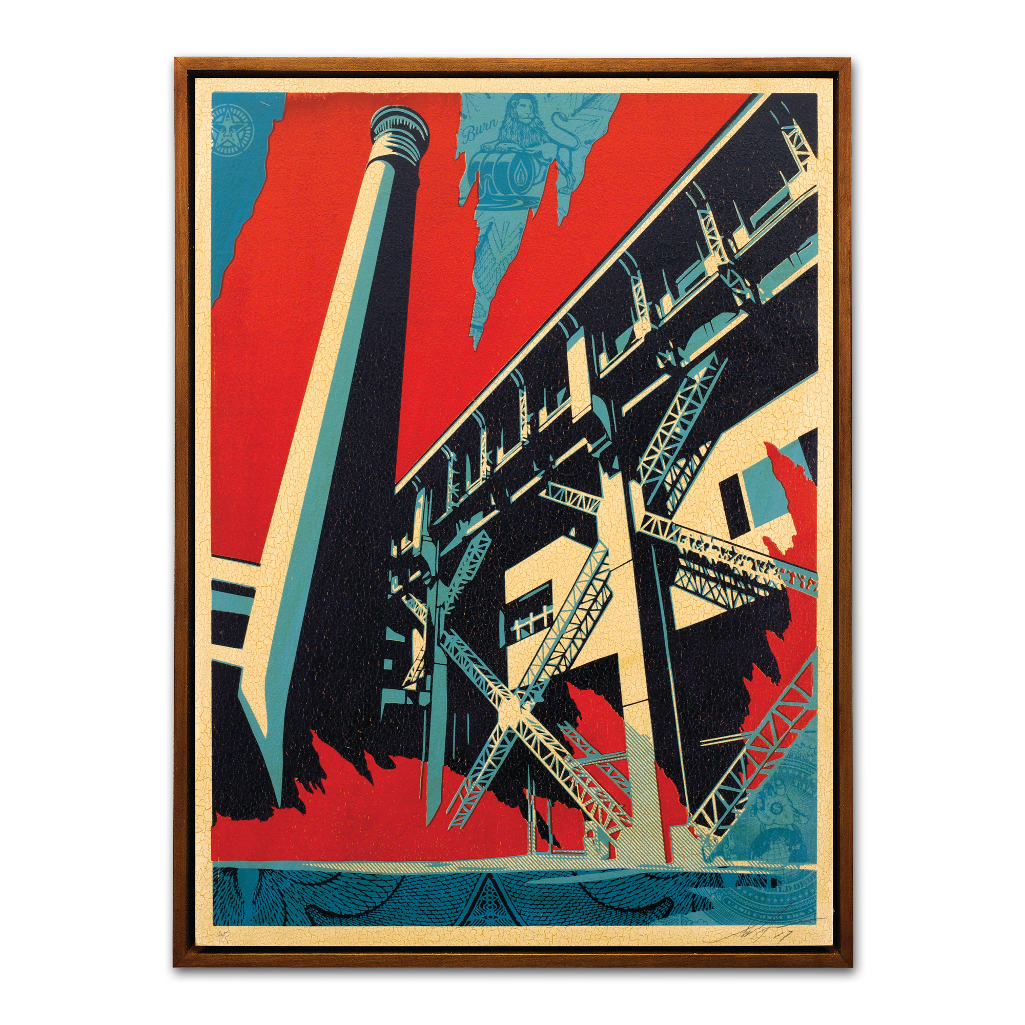 Shepard Fairey, Fossil Factory by Faile