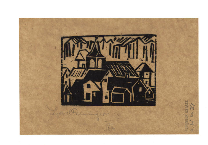 Church and Village by Lyonel Feininger at