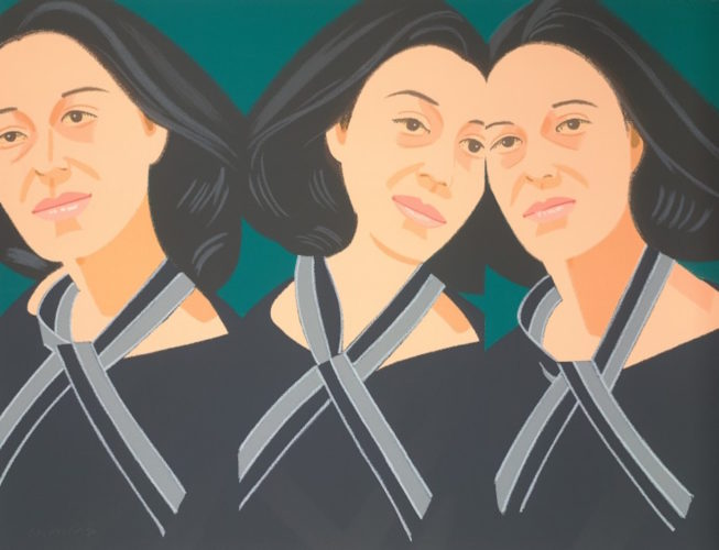 Gray Ribbon (Alex and Ada Suite) by Alex Katz
