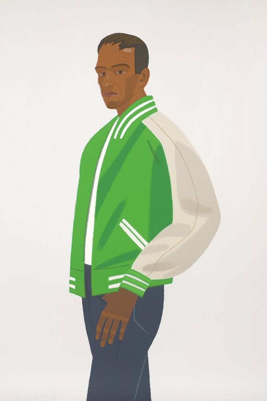 Green Jacket (Alex and Ada Suite) by Alex Katz