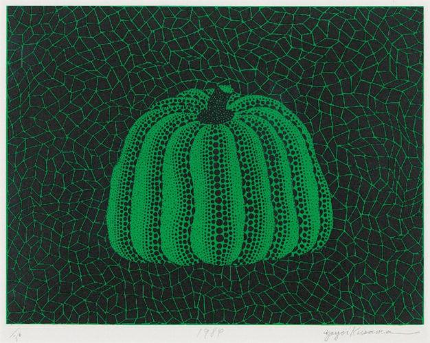 Untitled (Green Pumpkin) by Yayoi Kusama