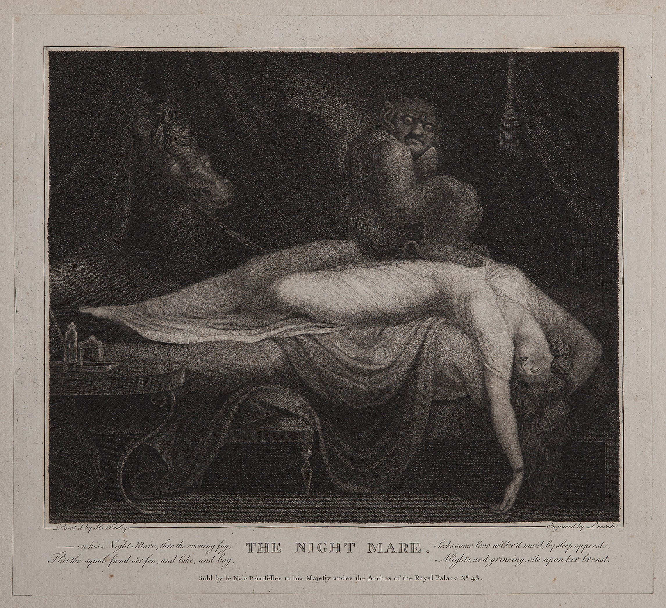 The Nightmare by Henry Fuseli (after)