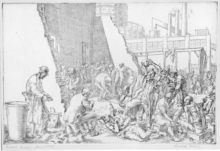 East Tenth Street Jungle, 1934, rare first state by Reginald Marsh
